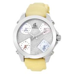 Jacob & Co. Five Time Zone JCM44, Diamond Dial, Certified