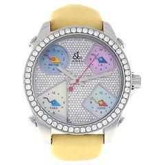 Jacob & Co. Five Time Zone JCM45, Diamond Dial, Certified