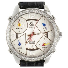 Jacob & Co. Five Time Zone P-O 28, Silver Dial, Certified