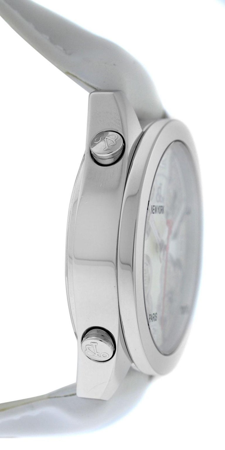 Modern Jacob & Co. Five Time Zone Steel Mother of Pearl Diamond Watch For Sale