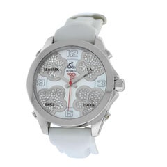 Jacob & Co. Five Time Zone Steel Mother of Pearl Diamond Watch