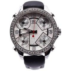 Jacob & Co Five Time Zone Watch with Diamond Bezel