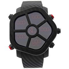 Jacob & Co. Ghost Carbon Bezel Black Quartz Men's Watch GH100.11.NS.PC.ANA4D