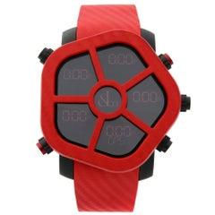 Jacob & Co. Ghost Carbon Bezel Red Quartz Men's Watch GH100.11.NS.PC.ANA4D