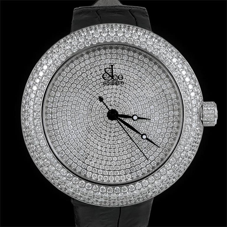 Women's or Men's Jacob & Co. Limited Edition Diamond Watch For Sale