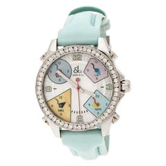 Jacob & Co. Multicolor Mother of Pearl  Five Time Zones Women's Wristwatch 40 mm