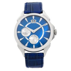 Jacob & Co. Palatial Big Date Steel Hand-Wind Men's Watch PC400.10.NS.NF.A