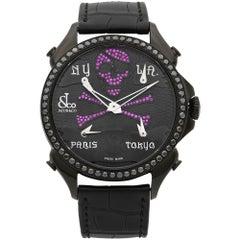 Jacob & Co. Palatial Ghost 5-Time Zone Quartz Men's Watch PZ500.11.SO.NU.A