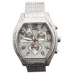 Jacob & Co. Quasar Chronograph 33 Carat Diamonds Stainless Steel Watch