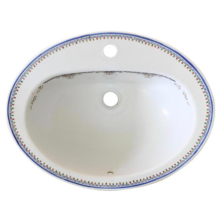 Jacob Delafon Wash Bowl, circa 1920s-1930s For Sale