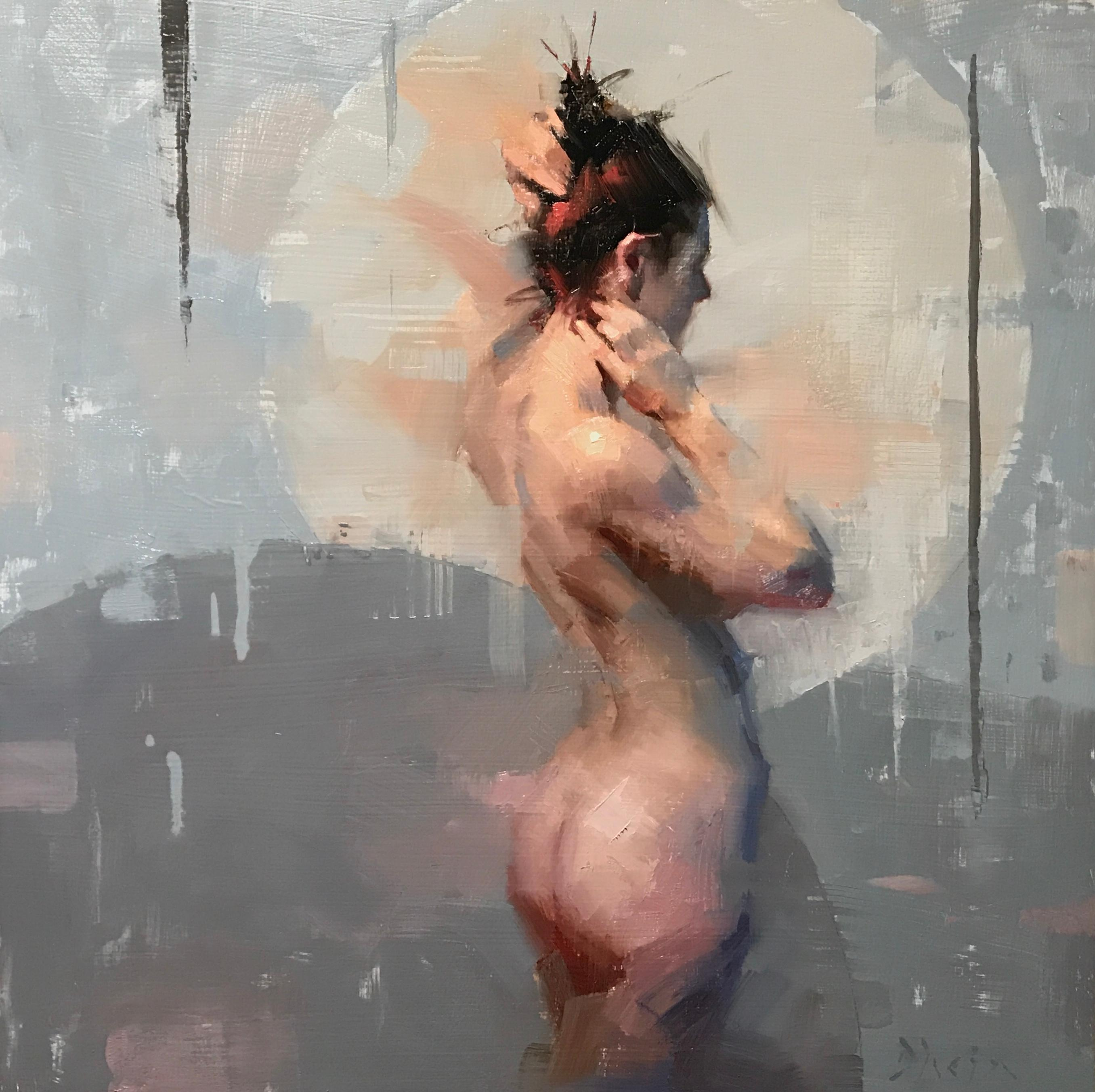 """""""Nude with Grey"""" Oil Painting"""