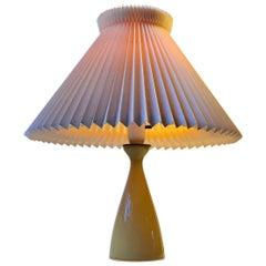 Jacob E. Bang Table Lamp in Cased Honey Glass, Holmegaard/Kastrup, 1950s
