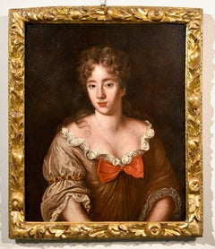 Portrait Woman Voet Paint Oil on canvas Old master 17/18th Century Flemish Art