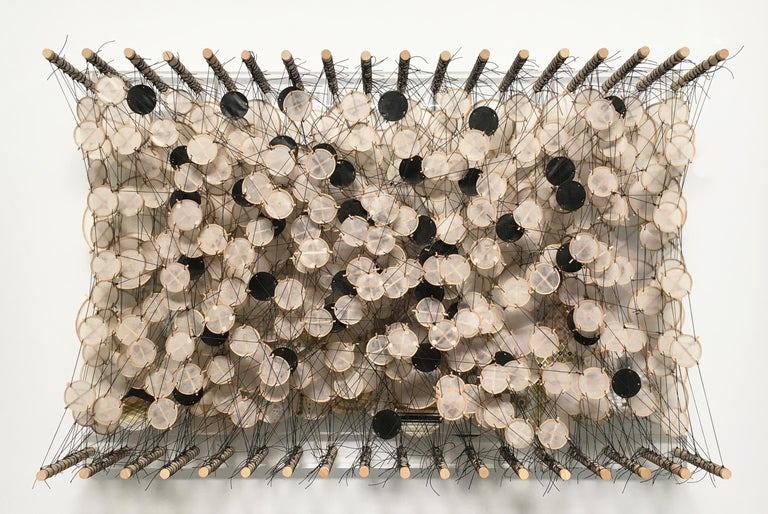Untitled, Jacob Hashimoto, Sculpture - Brown Abstract Sculpture by Jacob Hashimoto