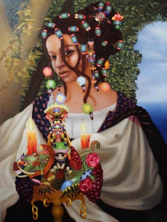 WOMAN 39, THE FROG PRINCE, portrait, woman, fashion, flower decoration, jewelry