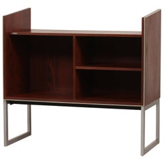 Jacob Jensen for Bang & Olufsen Rosewood and Metal Audio System Cabinet, 1980s