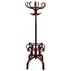Jacob & Josef Kohn Art Nouveau Coat Rack Model 1092 Beech Mahogany Stained, 1900