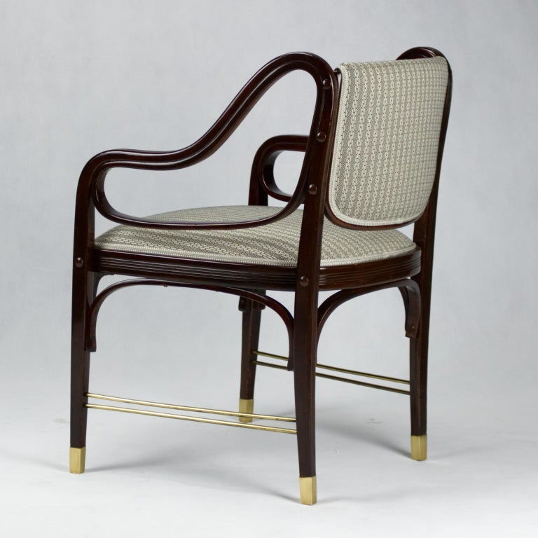 Jacob & Josef Kohn Vienna Art Nouveau Armchair No. 412 by Otto Wagner, 1904 In Good Condition For Sale In Lucenec, SK