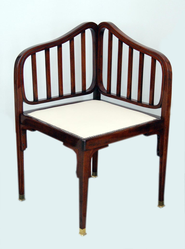 Austrian Jacob & Josef Kohn Vienna Art Nouveau Settee Number 412 by Otto Wagner c.1901 For Sale