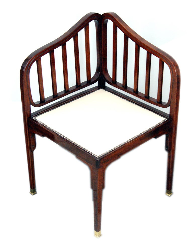 Jacob & Josef Kohn Vienna Art Nouveau Settee Number 412 by Otto Wagner c.1901 In Excellent Condition For Sale In Vienna, AT
