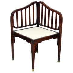 Jacob & Josef Kohn Vienna Art Nouveau Settee Number 412 by Otto Wagner c.1901