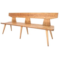 Jacob Kielland Brandt Bench in Pine for Christiansen, Handcrafted 1960s