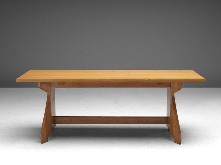 Scandinavian Modern Jacob Kielland-Brandt Dining Table in Solid Pine For Sale