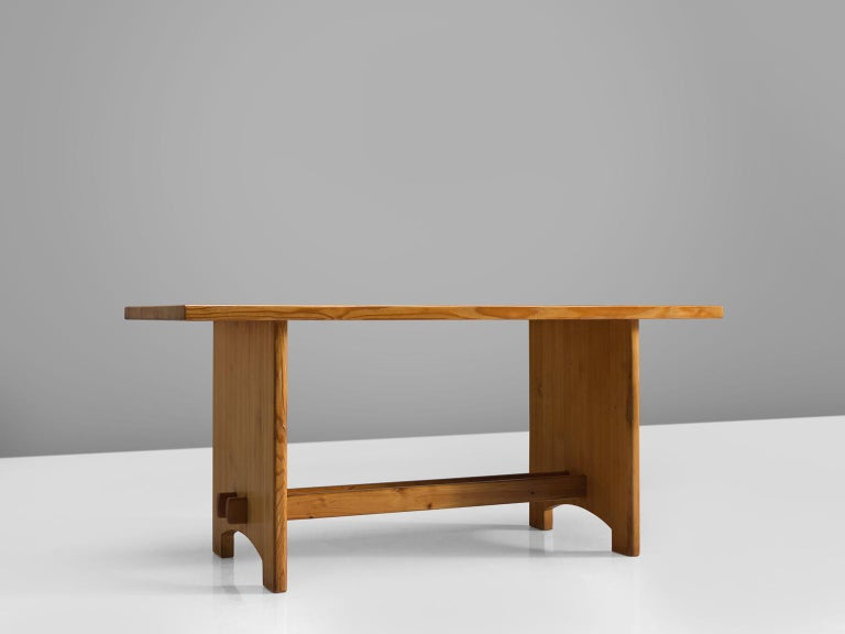 Scandinavian Modern Jacob Kielland-Brandt Dining Table in Solid Pine For Sale
