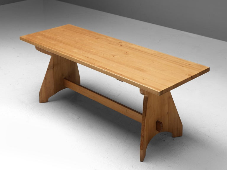Jacob Kielland Brandt Dining Table In Solid Pine For Sale At 1stdibs
