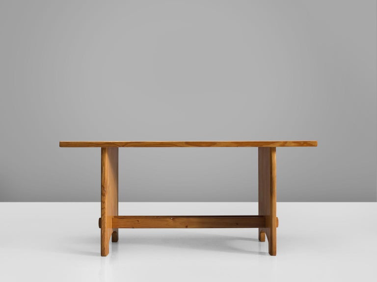Danish Jacob Kielland-Brandt Dining Table in Solid Pine For Sale
