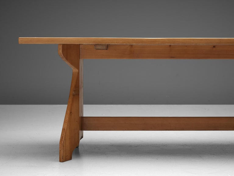 Mid-20th Century Jacob Kielland-Brandt Dining Table in Solid Pine For Sale