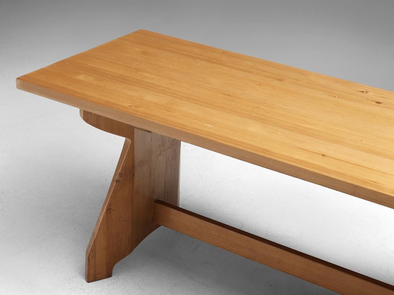 Jacob Kielland-Brandt Dining Table in Solid Pine For Sale 1
