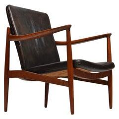 Jacob Kjaer, Adjustable Teak Lounge Chair, Denmark, 1945