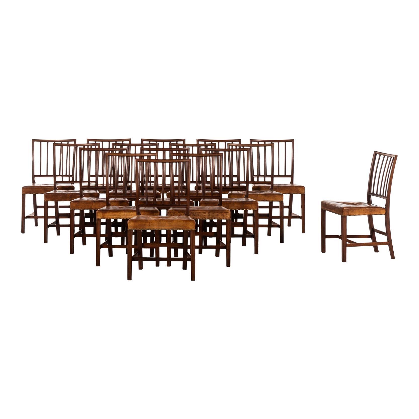 Jacob Kjær Dining Chairs Model Paris Produced by Cabinetmaker Jacob Kjær