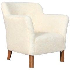 Jacob Kjær Lounge Chair in Artifical Sheepskin