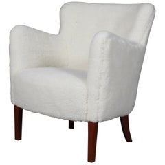 Jacob Kjær Lounge Chair in Sheepskin
