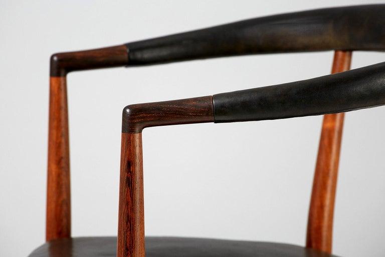 Danish Jacob Kjaer Model B-37 Rosewood Un Chair, 1949 For Sale