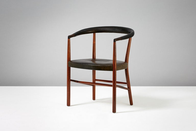 Mid-20th Century Jacob Kjaer Model B-37 Rosewood Un Chair, 1949 For Sale
