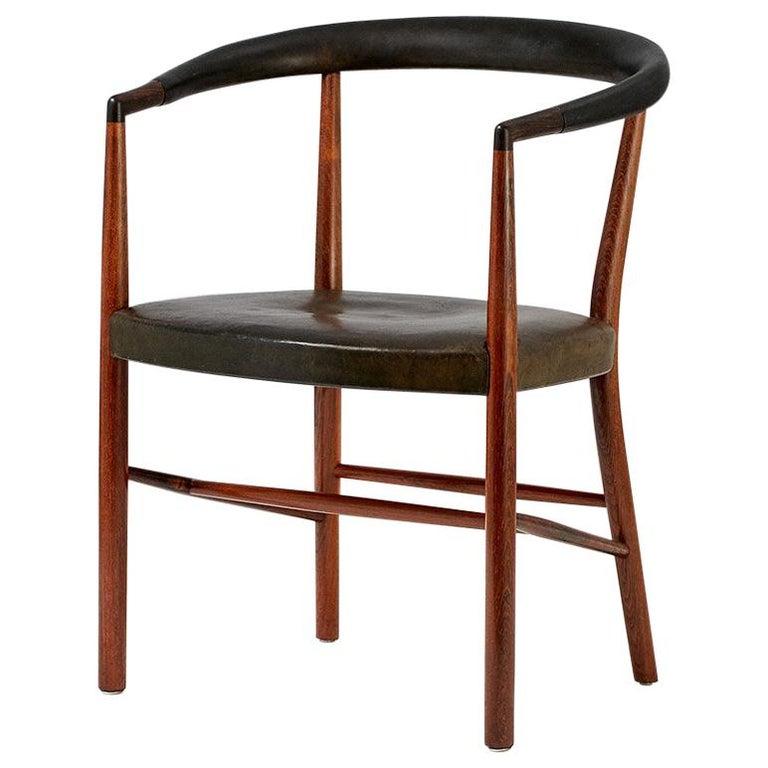 Jacob Kjaer Model B-37 Rosewood Un Chair, 1949 For Sale