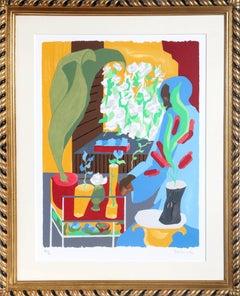 Supermarket Flora, Framed Silkscreen by Jacob Lawrence