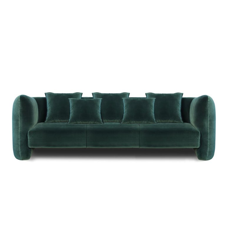 Jacob sofa by Collector Materials: All upholstered in genuine Tuscania 2006 leather. Dimensions: W 300 x D 90 x H 75 cm x SH 42 cm   This fun and sophisticated sofa, it's simple shape and attractive color game along with other possible
