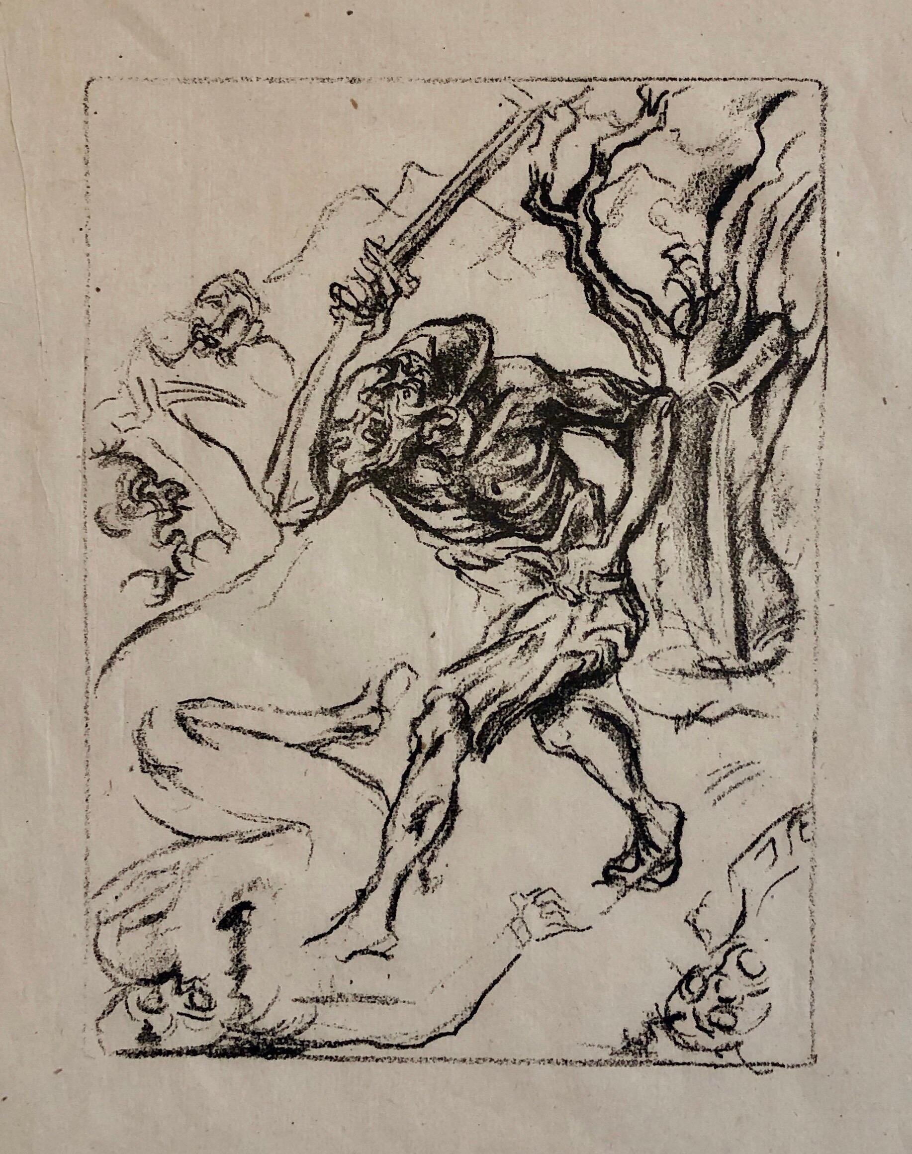 Jakob Steinhardt Jewish German Expressionist Lithograph Israeli Early Bezalel