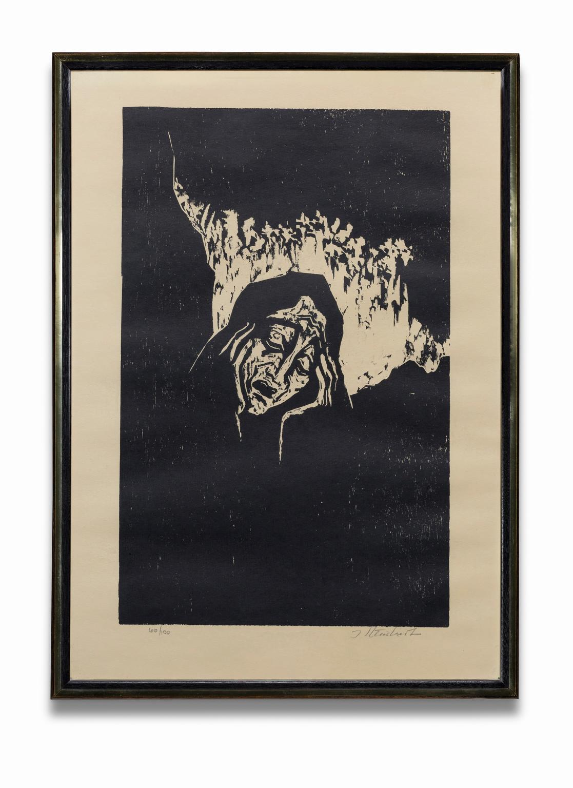 """""""Rachel Weeping For Her Children"""", Woodcut Print, Signed and Numbered"""