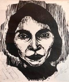 Steinhardt Woodcut Marian Anderson Signed African American, Israeli Bezalel Art