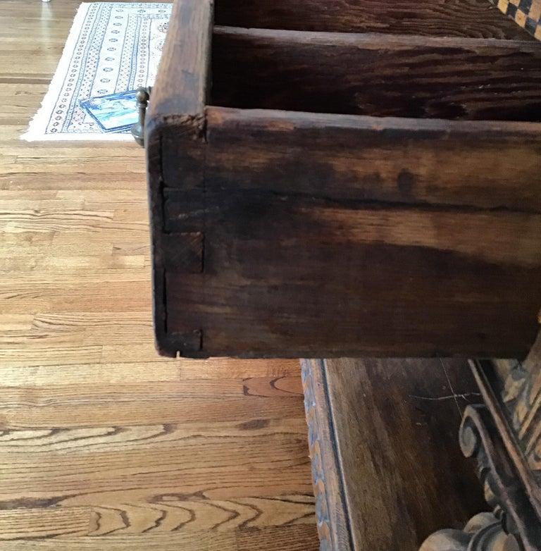 Jacobean Oak Court Cabinet Base For Sale 9