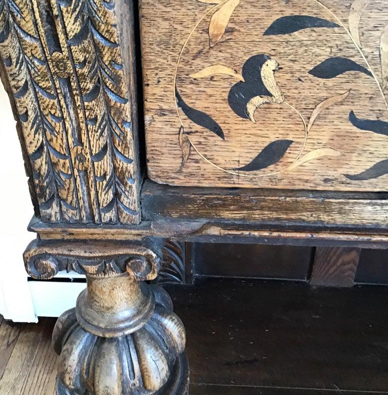 Jacobean Oak Court Cabinet Base For Sale 1