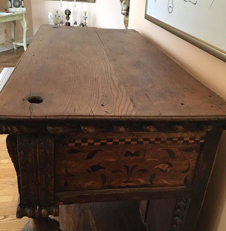 Jacobean Oak Court Cabinet Base For Sale 2