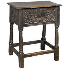 Jacobean Oak Joined Stool or Box
