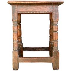 Jacobean Oak Joint Stool