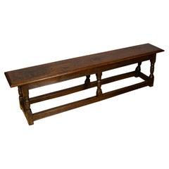 Jacobean Oak Long Bench